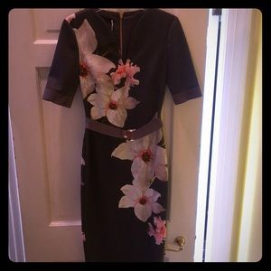 Ted Baker Chatsworth Bloom Belted Bodycon Dress